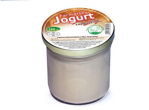 Farmářský jogurt s příchutí cappucino 150g