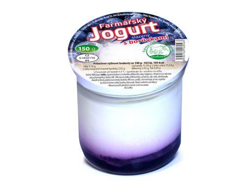 Farmářský jogurt s borůvkami 150g