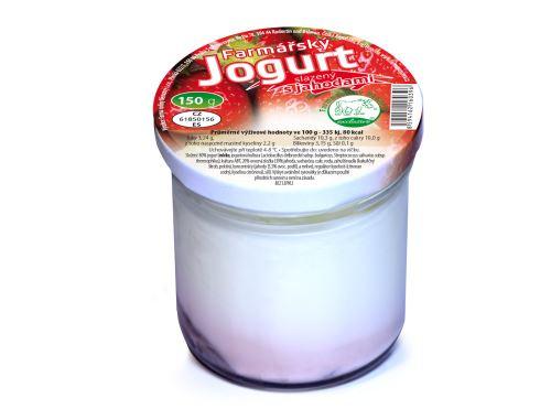 Farmářský jogurt s jahodami 150 g