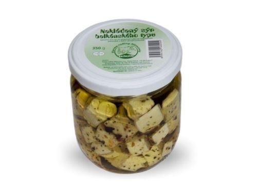 Nakládaný sýr balkánského typu 350g - ve skle