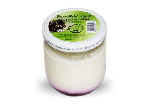 Farmářský jogurt s příchutí višeň 320g